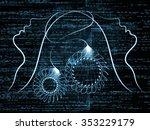 human tangents series.... | Shutterstock . vector #353229179