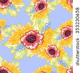 abstract elegance seamless... | Shutterstock . vector #353230658