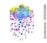 rain    Shutterstock . vector #353231684