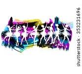 set of vector dancer ballerinas  | Shutterstock .eps vector #353231696