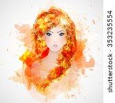 beauty abstract beautiful girl... | Shutterstock .eps vector #353235554