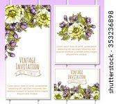 vintage delicate invitation... | Shutterstock .eps vector #353236898