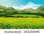 Spring Landscape Vector...