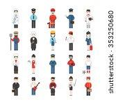 twenty cartoon characters of... | Shutterstock .eps vector #353250680
