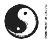 Hand Drawn Ying Yang Symbol Of...