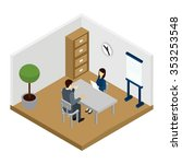 recruitment interview with... | Shutterstock .eps vector #353253548