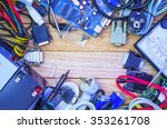 hardware collected under. | Shutterstock . vector #353261708
