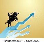strong bull chart bullish...   Shutterstock .eps vector #353262023