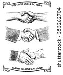 people shaking hands. set of...