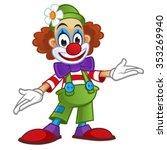 clown on white background | Shutterstock .eps vector #353269940
