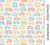 car seamless pattern | Shutterstock .eps vector #353274353