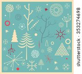 set of winter nature icons ... | Shutterstock .eps vector #353274698