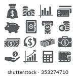 money icons  | Shutterstock .eps vector #353274710