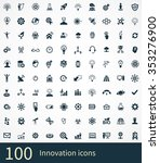 innovation 100 icons universal... | Shutterstock . vector #353276900