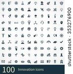innovation 100 icons universal... | Shutterstock . vector #353276900
