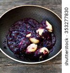 cheese gnocchi with blueberry... | Shutterstock . vector #353277830