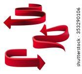 set of red arrows  vector | Shutterstock .eps vector #353290106