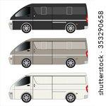 cargo van car | Shutterstock .eps vector #353290658