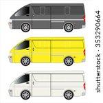 cargo van car | Shutterstock .eps vector #353290664