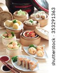 Assorted Asian Food Dim Sum In...
