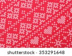 red and white criss cross... | Shutterstock . vector #353291648
