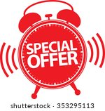 special offer alarm clock icon  ... | Shutterstock .eps vector #353295113