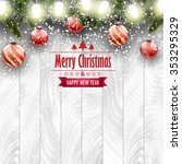 christmas card  ornaments on a...   Shutterstock .eps vector #353295329