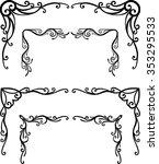 vintage cascading decor... | Shutterstock .eps vector #353295533