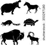 Wild Animals Silhouette Variou...
