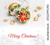 christmas greeting card.... | Shutterstock . vector #353299190