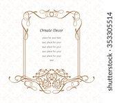 vector decorative frame....   Shutterstock .eps vector #353305514