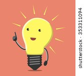 light bulb character with great ... | Shutterstock .eps vector #353311094