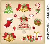 set of christmas frames vector... | Shutterstock .eps vector #353314874