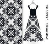 vector fashion illustration.... | Shutterstock .eps vector #353319458