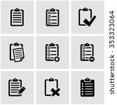 vector black check list icon... | Shutterstock .eps vector #353323064