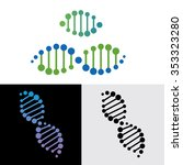 dna  genetic sign  elements and ... | Shutterstock .eps vector #353323280
