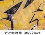 beautiful street art of... | Shutterstock . vector #353324606