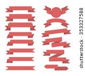 ribbon icons   Shutterstock .eps vector #353327588