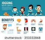 jogging healthcare concept. | Shutterstock .eps vector #353332868