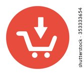 shopping cart flat icon.