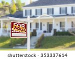 sold home for sale real estate... | Shutterstock . vector #353337614