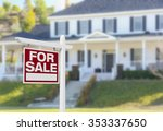 home for sale real estate sign... | Shutterstock . vector #353337650