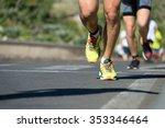 marathon runners | Shutterstock . vector #353346464