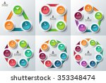 vector circle elements for... | Shutterstock .eps vector #353348474