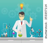 chemical laboratory science and ... | Shutterstock .eps vector #353357114