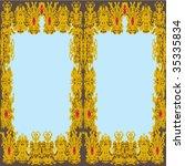 golden decorative frame   Shutterstock .eps vector #35335834