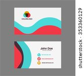 simple flat business card design