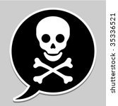 Speech Bubble With Skull And...