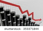 oil barrels and a financial... | Shutterstock . vector #353371844