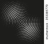 abstract dotted vector... | Shutterstock .eps vector #353385770